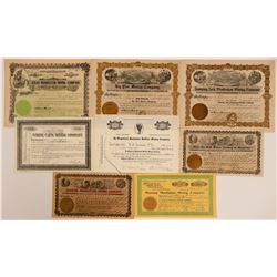 Manhattan, Nevada Stock Certificates- Group 6  (111015)