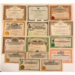 Tonopah Divide District Stock Certificates- Group 1  (111002)