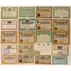 Goldfield, Tonopah and Manhattan Stock Certificates  (112094)