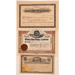 Rawhide Stock Certificates Trio  (110823)