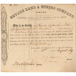 Nevada Land & Mining Company, Ltd. Stock, 1869  (112815)