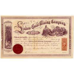 Lisbon Gold Mining Company Stock, New Hampshire, 1866- Rare  (111397)