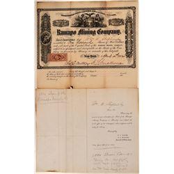 Ramapo Mining Company Stock Certificate  (107808)