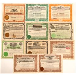 Oregon Mining Stock Certificates Group  (111006)