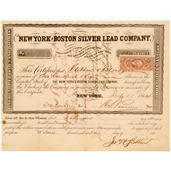 New York & Boston Silver Lead Company Stock, Pennsylvania, 1864  (111370)