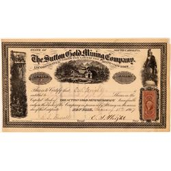 Sutton Gold Mining Company Stock Certificate  (107792)
