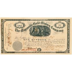 Magnolia Gold Mining Company Stock, So. Carolina, 1882  (111393)
