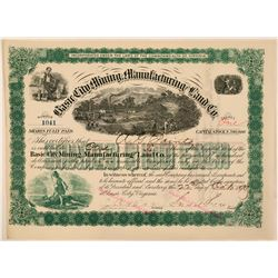 Basic City Mining, Manufacturing & Land Co. Stock Certificate, 1890  (111326)