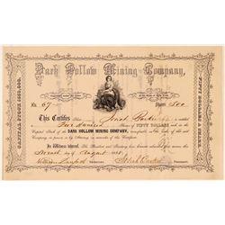 Dark Hollow Mining Company Stock Certificate  (107766)