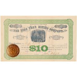 Mica Peak Mining Company Stock, Spokane, WA. 1884  (111394)