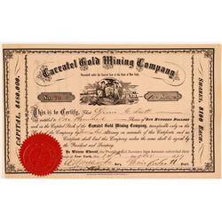 Caratel Gold Mining Company Stock Certificate  (107771)