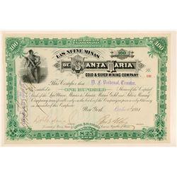 Las Nueve Minas De Santa Maria Gold & Silver Mining Company   (111380)