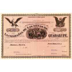 La Compania De Las Minas De Guadalupe Stock Proof, Mexico  (111385)