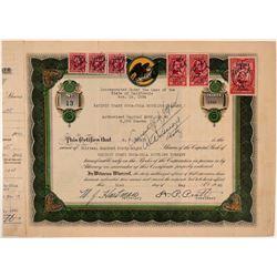 Pacific Coast Coca-Cola Bottling Company Stock Certificate  (107783)