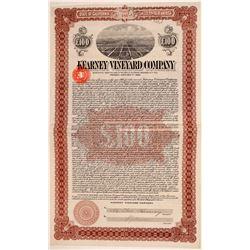 Kearney Vineyard Co. Bond  (110836)