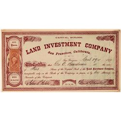 Land Investment Company Stock Certificate  (107758)