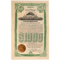 Enterprise Oil Company of Southern California Gold Bond, 1897  (111009)
