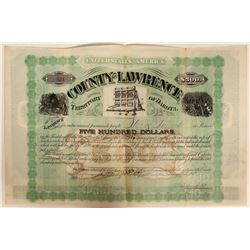 County of Lawrence 10% $500 Bond issued to Seth Bullock  (110938)