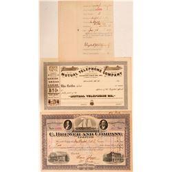 Two Hawaii Stocks: C. Brewer & Company, Ltd. & Mutual Telephone Company  (107757)