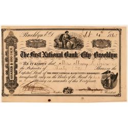 The First National Bank of the City of Brooklyn Stock, 1865  (111341)