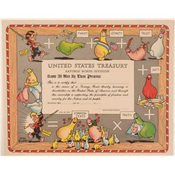 United States Treasury Bond With the Shmoo's, Al Capp Cartoon Figures  (111333)