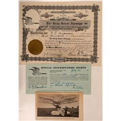 Gray Goose Airways, Inc. Stock Certificate & Rare Brochure  (107787)