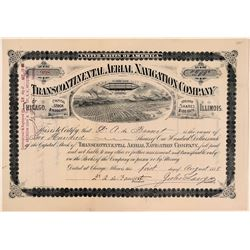 Transcontinental Aerial Navigation Company Stock Certificate - Very Rare!  (107764)