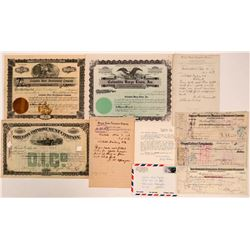Columbia River Transportation Collection (Stocks, Telegraphs, Checks)  (107827)