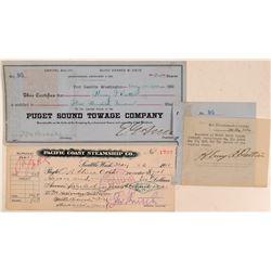 Puget Sound Transportation Stock & Check  (107826)