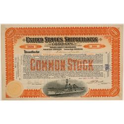 United States Shipbuilding Co. Stock Signed by Jay Gould's Son  (107762)