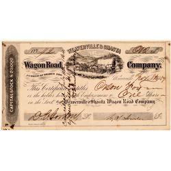 Weaverville & Shasta Wagon Road Company Stock Certificate  (107812)