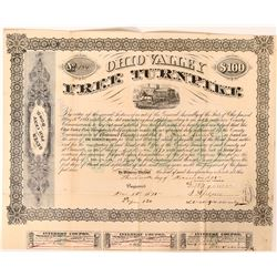 Ohio Valley Free Turnpike $100 Bond, 1875  (112874)