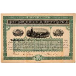 Mineral Belt Construction & Improvement Co. Stock Certificate  (107839)