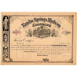 Eureka Springs Railway Co Stock Certificate  (111203)