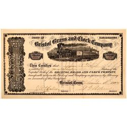 Bristol Brass & Clock Co Stock Certificate, 1892  (111165)