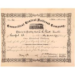 Connecticut Central Railroad Co Stock Certificate, 1887  (111146)