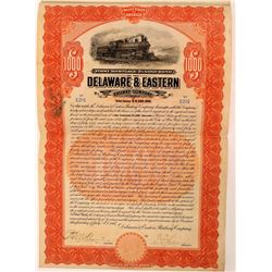 Delaware & Eastern Railway Co 1st Mtg. Bond, 1907  (111024)
