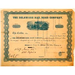 Delaware Rail Road Co Printer's Proof, 1859  (111272)
