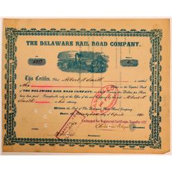 Delaware Rail Road Company Stock, 1890  (111025)