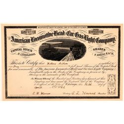 American Locomotive Head and Car Gas Light Company Stock, 1862  (111068)