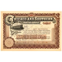 Chicago & Southern Traction Co Stock Certificate, 1908  (111169)