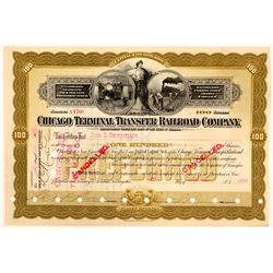 Chicago Terminal Transfer Railroad Co Preferred Stock Issued to John D. Rockefeller  (111126)