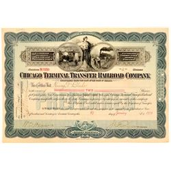 Chicago Terminal Transfer Railroad Co Preferred Stock, Rare Uncancelled, 1903  (111125)