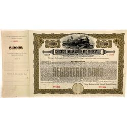 Chicago, Indianapolis & Louisville Railway Co $10,000, Series C Bond Specimen  (111119)
