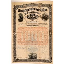 Chicago, Springfield & St. Louis Railroad Co, 1st Mortgage Gold Bond, 1883  (111127)