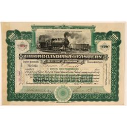 Chicago, Indiana & Eastern Railway Co Stock Certificate  (111223)