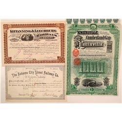 Indiana, Pennsylvania and Kentucky RR stock/bond  (110025)