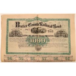 Butler County Railroad Bond aid to Kansas & Nebraska Railway Co  (110028)