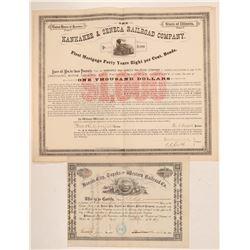 Kansas and Illinois RR stock/bond  (110029)