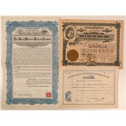 Group of Kentucky Railroads Includes a #1 Certificate (3)  (111255)